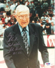 "John Wooden Autographed 8x10 Photo UCLA Bruins ""To John"" PSA/DNA #S28700"