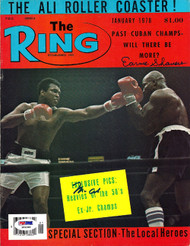 Muhammad Ali & Earnie Shavers Autographed The Ring Magazine Cover PSA/DNA #S01560