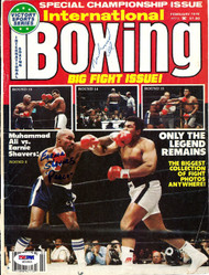 Muhammad Ali & Earnie Shavers Autographed International Boxing Magazine Cover PSA/DNA #S01563