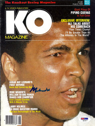 Muhammad Ali Autographed KO Boxing Magazine Cover PSA/DNA #S01617