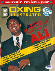 Muhammad Ali Autographed Boxing Illustrated Magazine Cover PSA/DNA #S01641