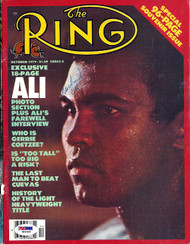 Muhammad Ali Autographed The Ring Magazine Cover PSA/DNA #S01666
