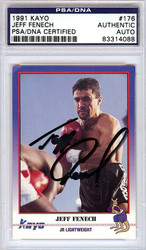 Jeff Fenech Autographed 1991 Kayo Card PSA/DNA #83314088