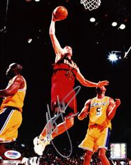 Christian Laettner Autographed 8x10 Photo Atlanta Hawks PSA/DNA #S40692