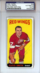 Floyd Smith Autographed 1964 Topps Card #42 Detroit Red Wings PSA/DNA #83322299