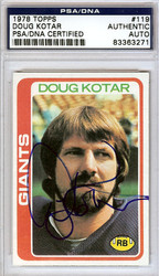 Doug Kotar Autographed 1978 Topps Card #119 New York Giants PSA/DNA #83363271