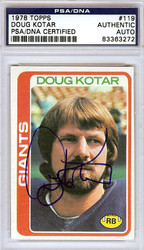 Doug Kotar Autographed 1978 Topps Card #119 New York Giants PSA/DNA #83363272