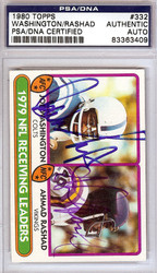 Ahmad Rashad & Joe Washington Autographed 1980 Topps Card #332 PSA/DNA #83363409