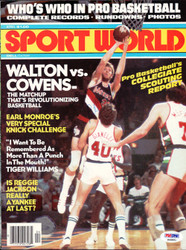 Bill Walton Autographed Sport World Magazine Cover Portland Trail Blazers PSA/DNA #S46891