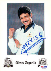 Alexis Arguello Autographed Advertisement PSA/DNA #S47277