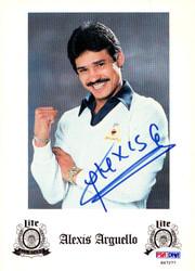 Alexis Arguello Autographed Advertisement PSA/DNA #S47277
