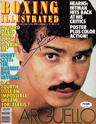 Alexis Arguello Autographed Boxing Illustrated Magazine Cover PSA/DNA #S47282