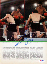 Alexis Arguello Autographed Magazine Page Photo PSA/DNA #S47284
