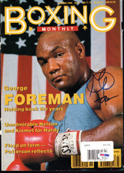 George Foreman Autographed Boxing Monthly Magazine Cover PSA/DNA #S47419