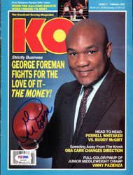 George Foreman Autographed KO Boxing Magazine Cover PSA/DNA #S47420