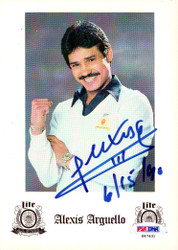 Alexis Arguello Autographed Advertisement PSA/DNA #S47431
