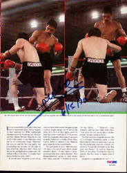Alexis Arguello Autographed Magazine Page Photo PSA/DNA #S47445