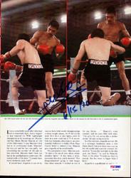 Alexis Arguello Autographed Magazine Page Photo PSA/DNA #S47445