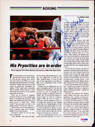 Alexis Arguello Autographed Magazine Page Photo PSA/DNA #S47447