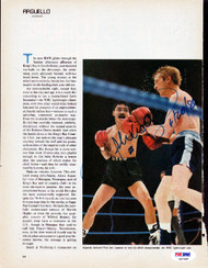 Alexis Arguello Autographed Magazine Page Photo PSA/DNA #S47448