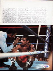 Alexis Arguello Autographed Magazine Page Photo PSA/DNA #S47450