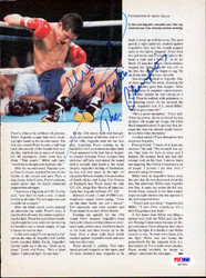 Alexis Arguello Autographed Magazine Page Photo PSA/DNA #S47451