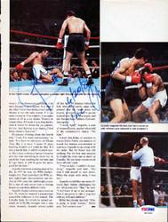 Alexis Arguello Autographed Magazine Page Photo PSA/DNA #S47452