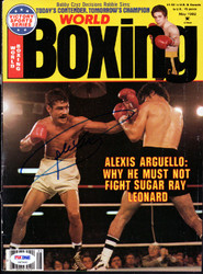Alexis Arguello Autographed Boxing World Magazine Cover PSA/DNA #S47460