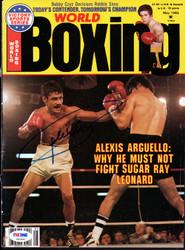 Alexis Arguello Autographed Boxing World Magazine Cover PSA/DNA #S47460