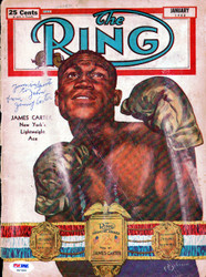 "Jimmy Carter Autographed The Ring Magazine Cover ""To John"" PSA/DNA #S47499"