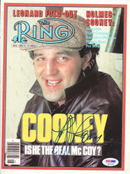 Gerry Cooney Autographed The Ring Magazine Cover PSA/DNA #S42139