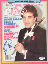 Gerry Cooney Autographed The Ring Magazine Cover PSA/DNA #S42140
