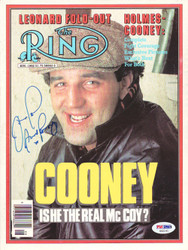 Gerry Cooney Autographed The Ring Magazine Cover PSA/DNA #S42141