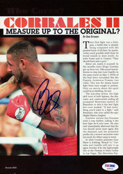 Diego Corrales Autographed Magazine Page Photo PSA/DNA #S48432