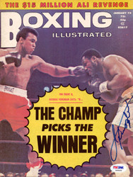 Joe Frazier Autographed Boxing Illustrated Magazine Cover PSA/DNA #S48460
