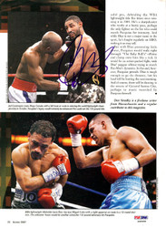 Diego Corrales Autographed Magazine Page Photo PSA/DNA #S48488