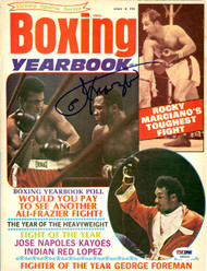 Joe Frazier Autographed Boxing Yearbook Magazine Cover PSA/DNA #S48496