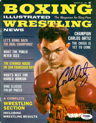 Carlos Ortiz Autographed Boxing Illustrated Magazine Cover PSA/DNA #S48528