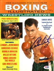 Carlos Ortiz Autographed Boxing Illustrated Magazine Cover PSA/DNA #S48535