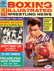 Carlos Ortiz Autographed Boxing Illustrated Magazine Cover PSA/DNA #S48536