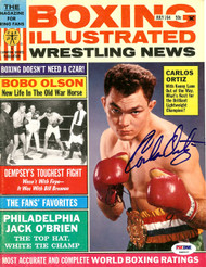 Carlos Ortiz Autographed Boxing Illustrated Magazine Cover PSA/DNA #S48537