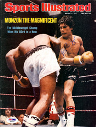 Carlos Monzon Autographed Sports Illustrated Magazine Cover PSA/DNA #S00456