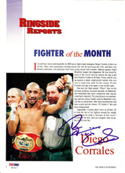 Diego Corrales Autographed Magazine Page Photo PSA/DNA #S47517