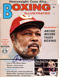Archie Moore Autographed Boxing Illustrated Magazine Cover PSA/DNA #S48858