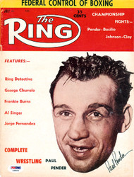 Paul Pender Autographed The Ring Magazine Cover PSA/DNA #S48839