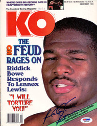 Riddick Bowe Autographed KO Boxing Magazine Cover PSA/DNA #Q95946