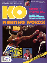 Riddick Bowe Autographed KO Boxing Magazine Cover PSA/DNA #Q95948