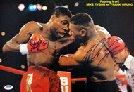 Mike Tyson & Frank Bruno Autographed Magazine Poster Photo Vintage PSA/DNA #T19785