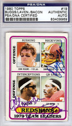 Danny Buggs, Joe Lavender & Coy Bacon Autographed 1980 Topps Card #19 Washington Redskins PSA/DNA #83409969