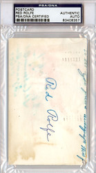 Red Rolfe Autographed 3x5 Index Card PSA/DNA #83408357